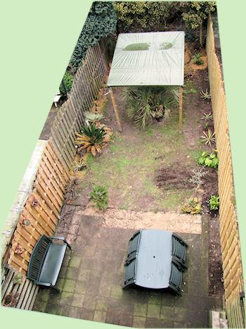 De tuin met het