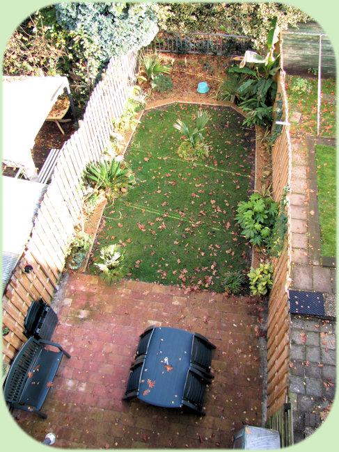 De tuin in 2009